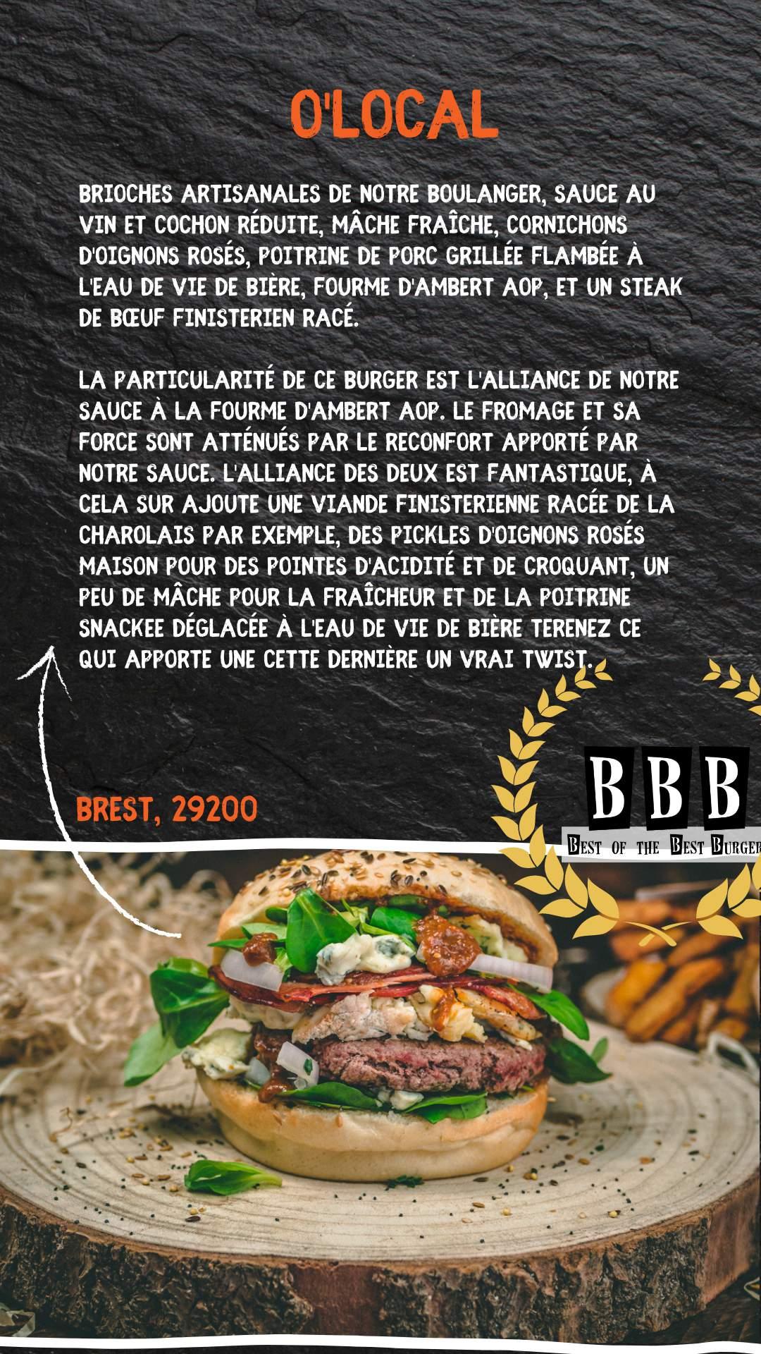 Burger du O'Local