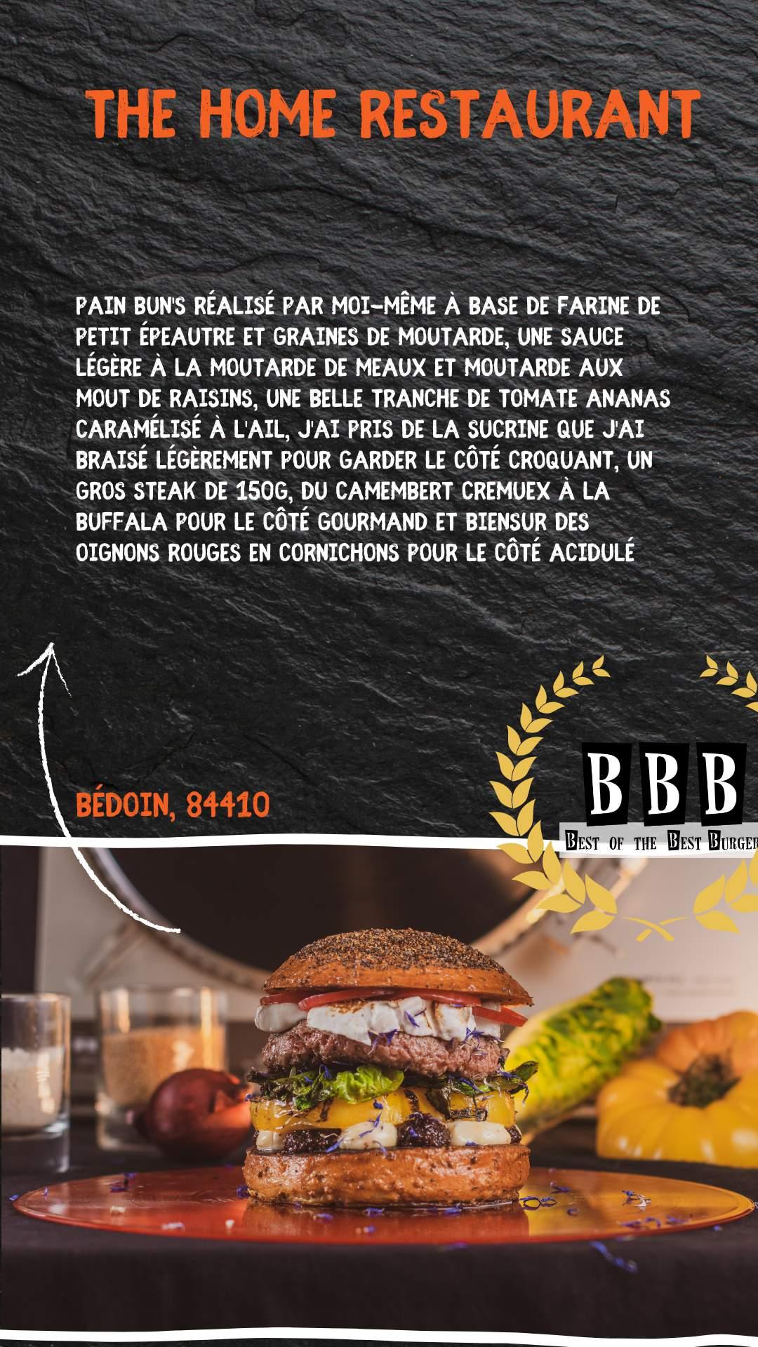 Burger du The Home Restaurant