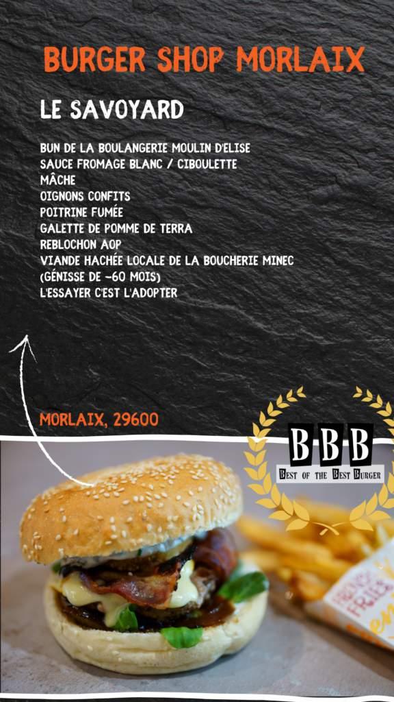 burger du burger shop morlaix