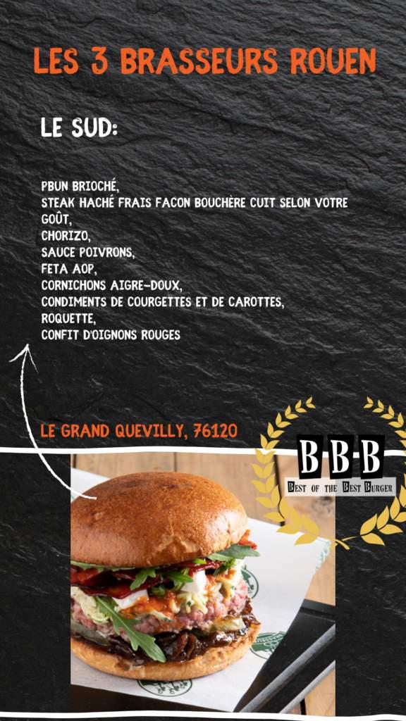 burger 3 brasseurs rouen