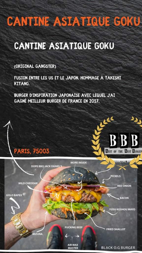Burger de la cantine asiatique