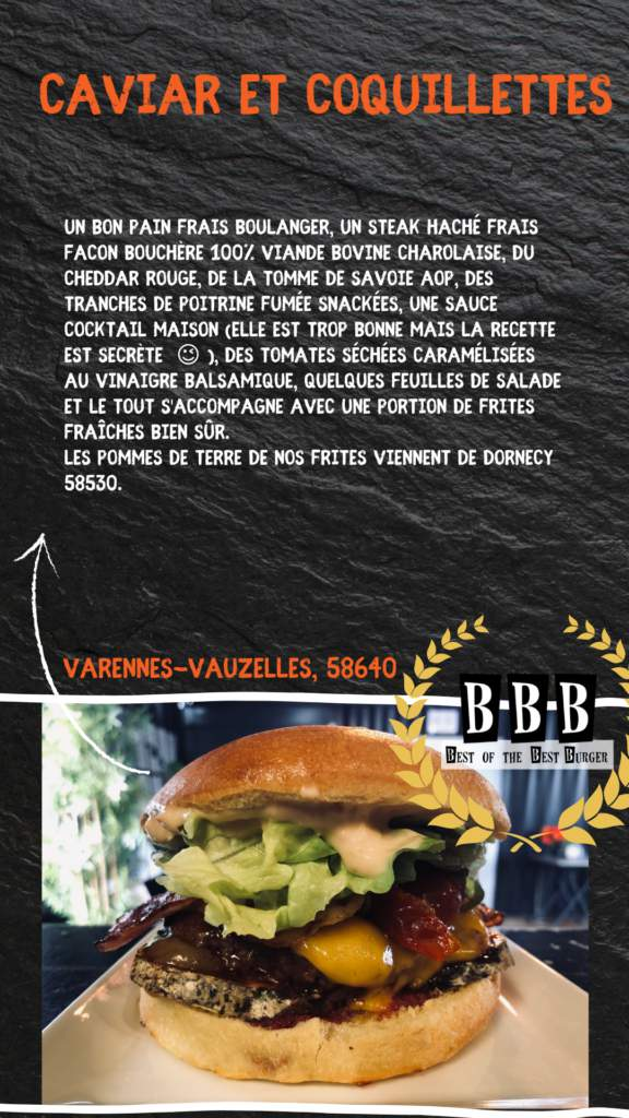 burger de caviar et coquillettes