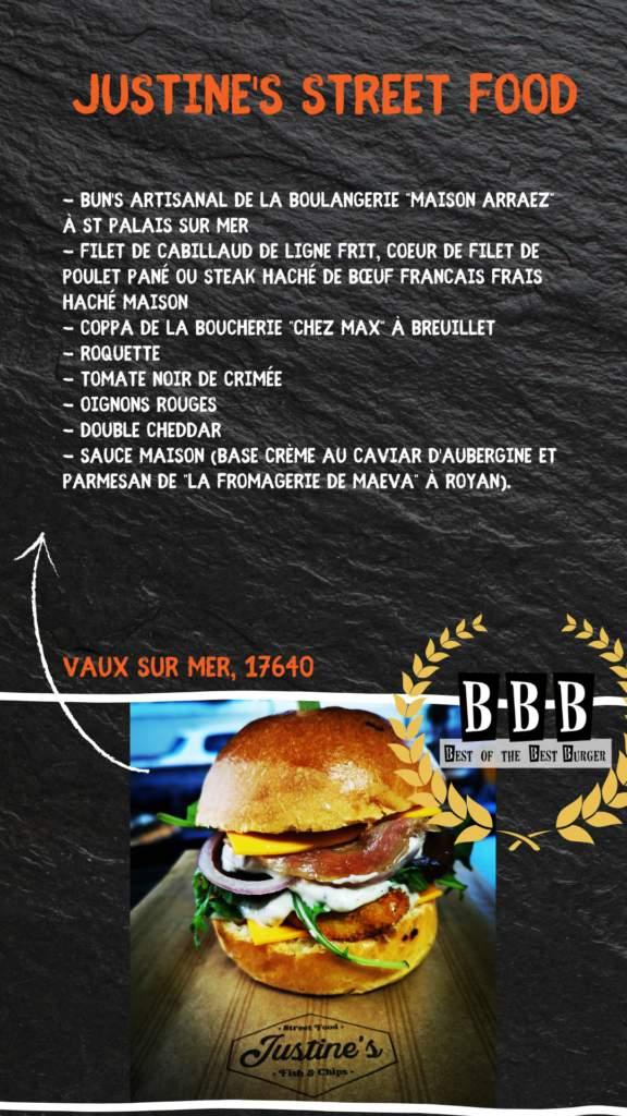 burger justine street food