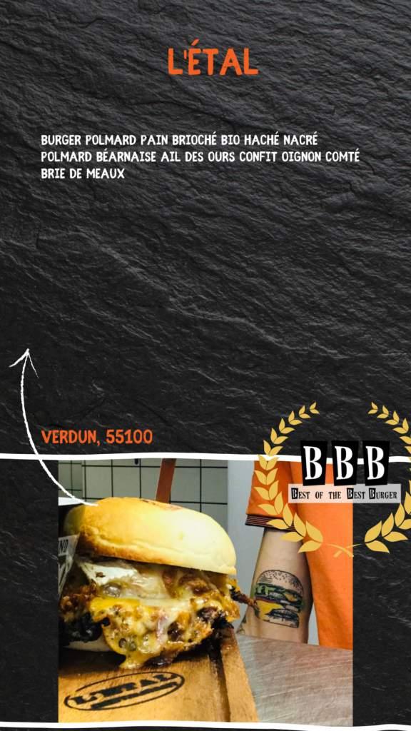 burger de l'étal