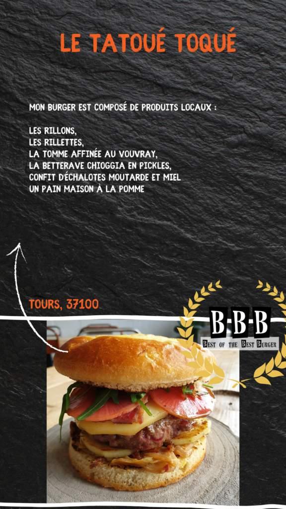 burger du tatoué toqué