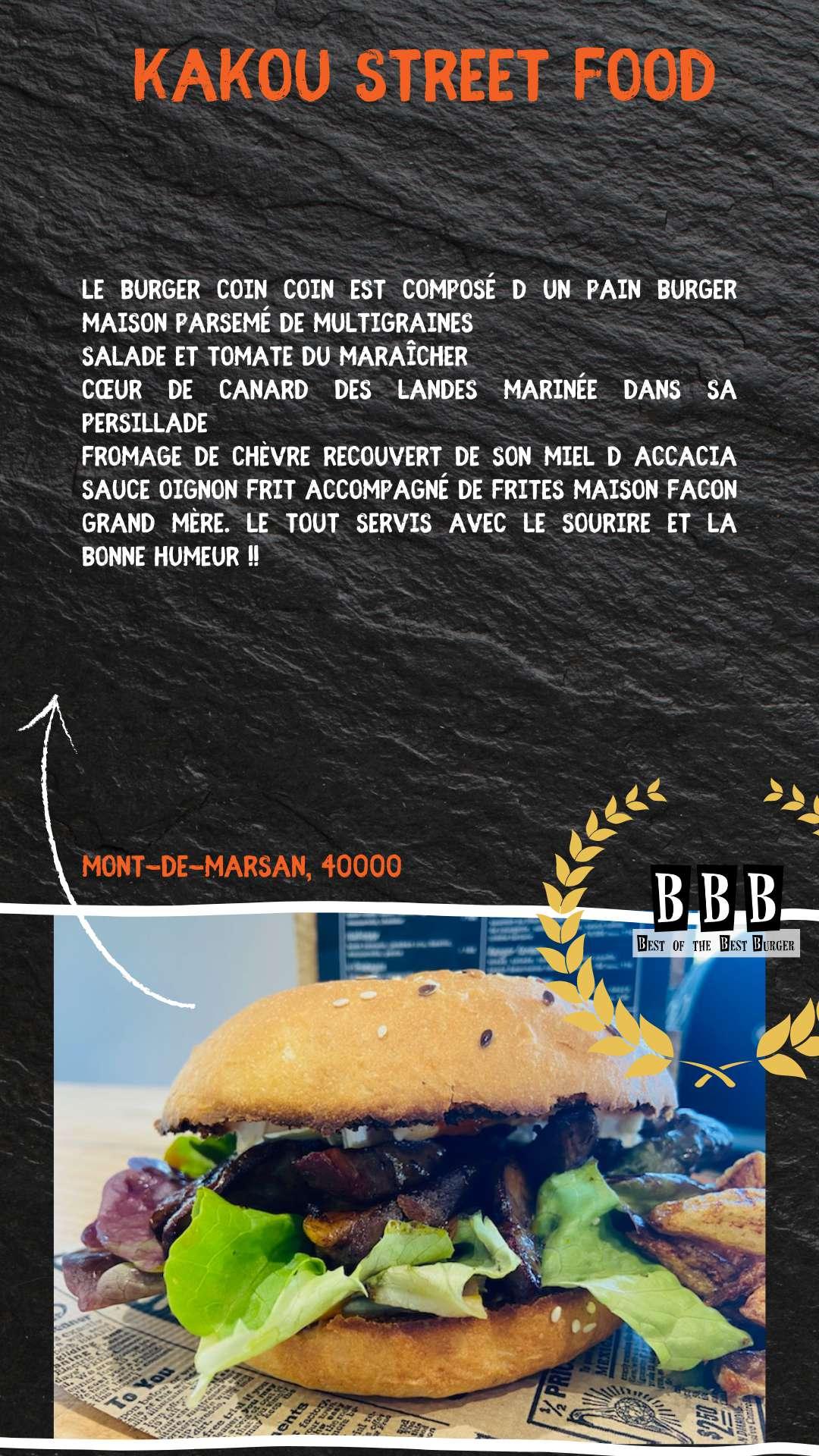 Burger du Kakou Street Food