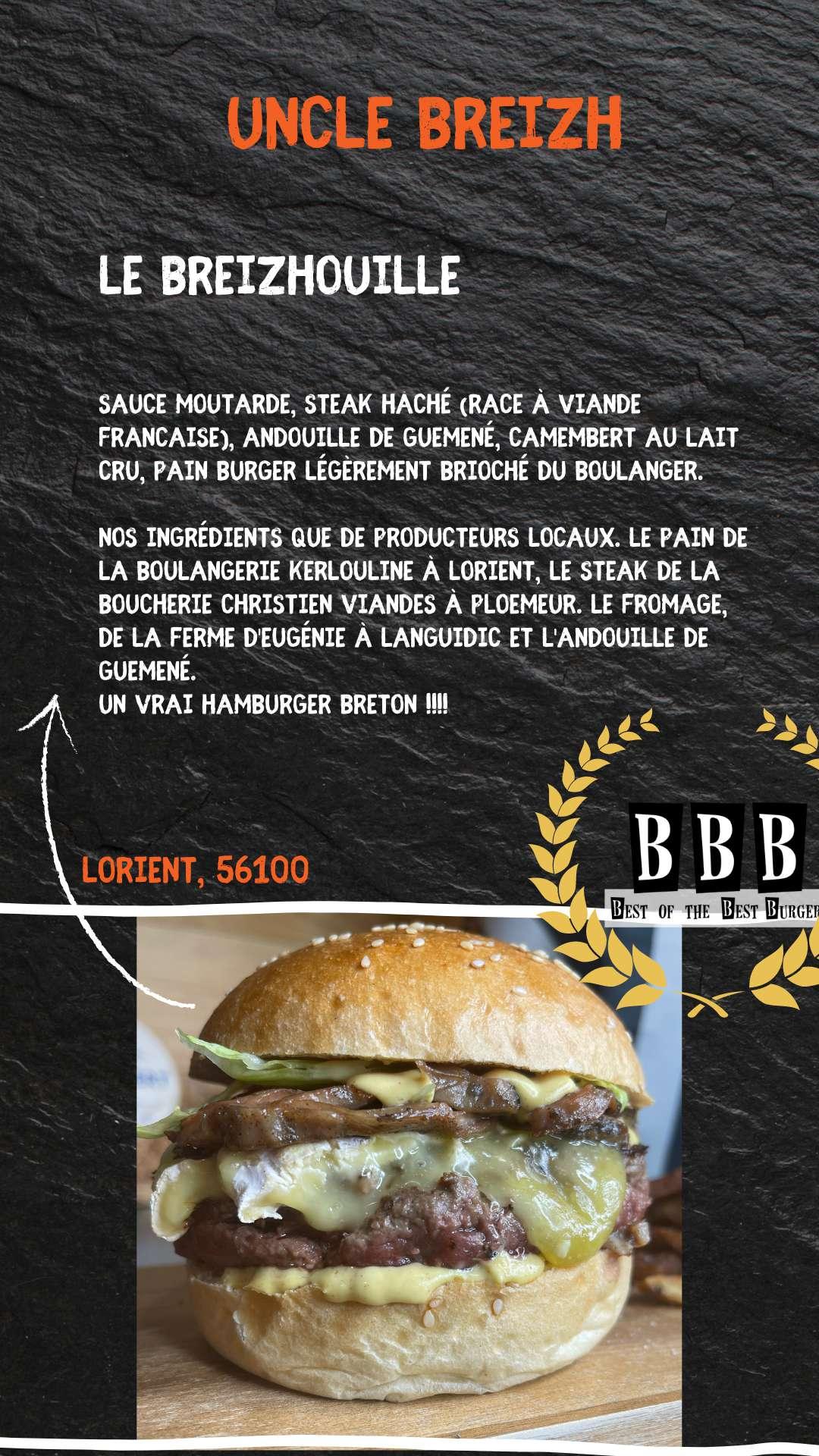 Burger de l'Oncle Breizh