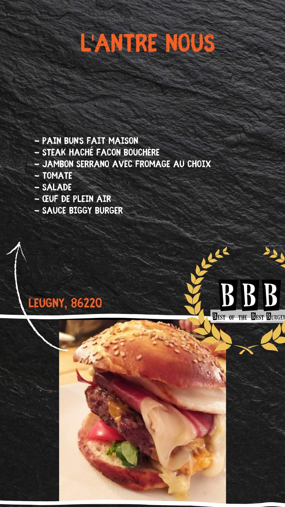 Burger de l'Antre nous