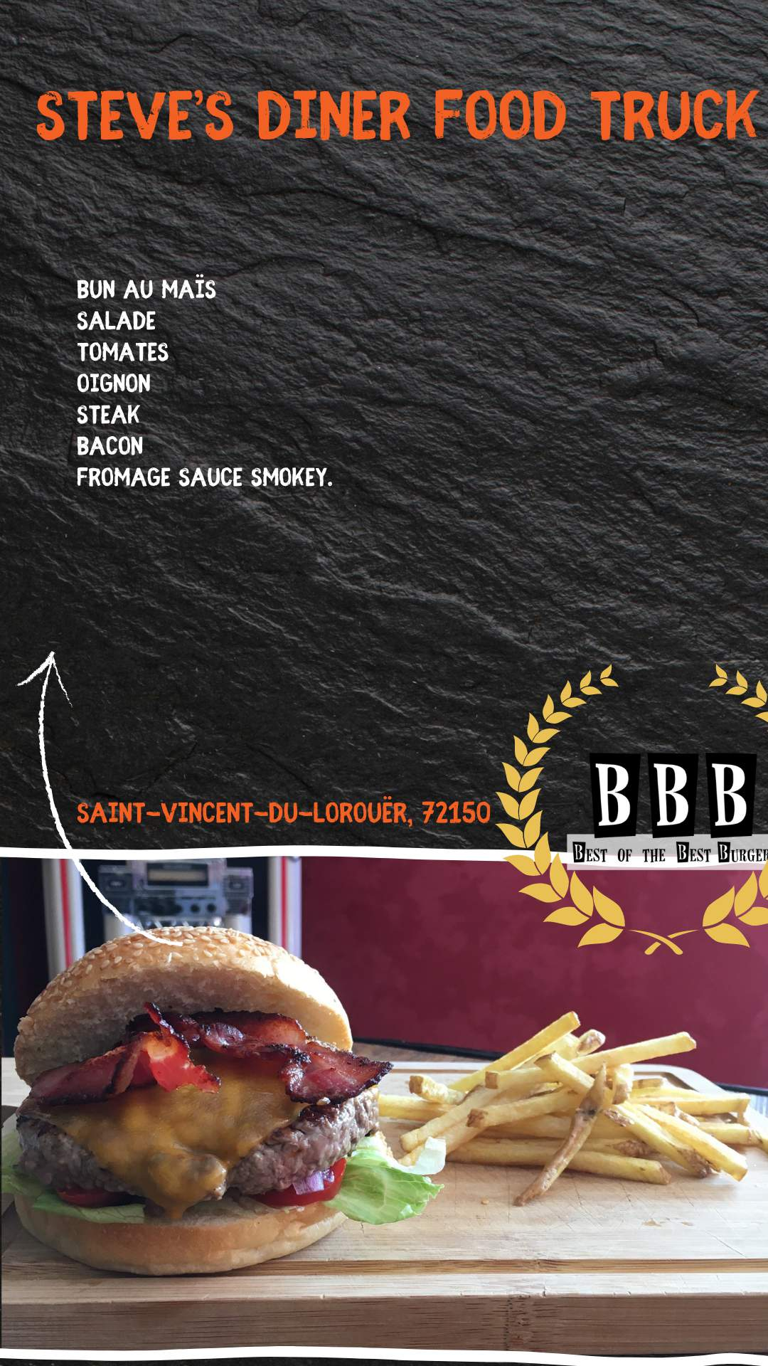 Burger du Steve's Diner Food Truck